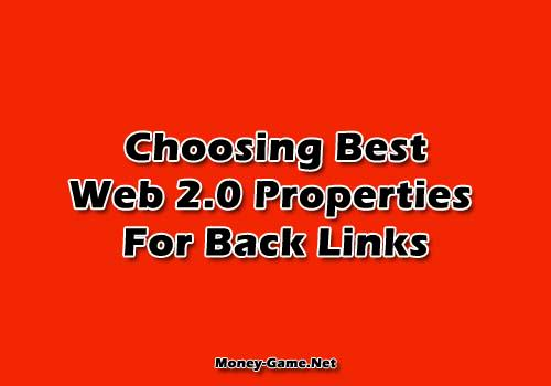 Choosing Best Web 2.0 Properties