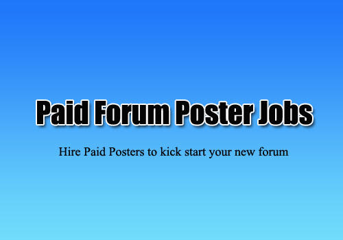 Paid Forum Posters